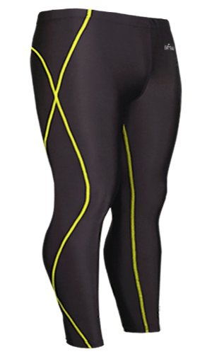 Emfraa Skin Tights Leggings Running Base Layer Compression Pants Men Women S ~ 2XL