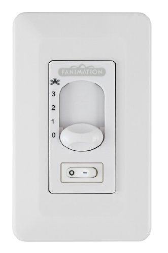 Fanimation CW1SWWH Wall Control Fan and Toggle on Off Light 3-Speed/Non-Rev (Ceiling Fan Zonix compare prices)