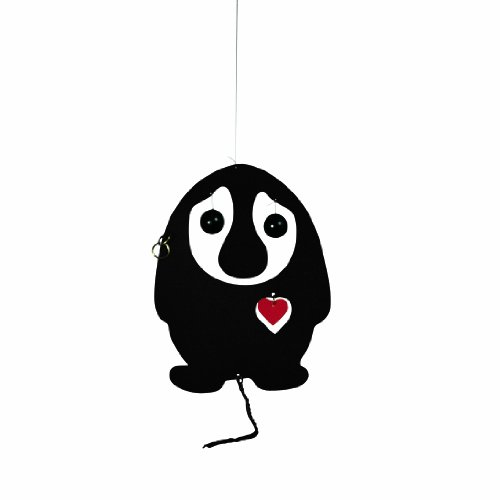 Flensted Mobiles Nursery Mobiles, Puffing Troll Black