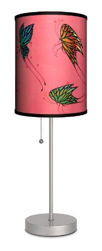 """Featured Artists - Carlos Ramos """"Butterflies"""" Sport Silver Lamp by LAMP IN A BOX, LLC."""