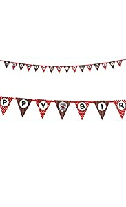 Birthday Express - Sock Monkey Ribbon Flag Banner