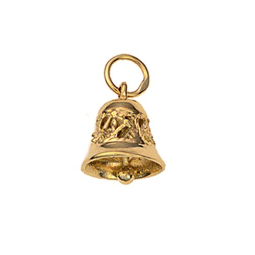 9ct Gold 10x11mm Ringing Bell charm