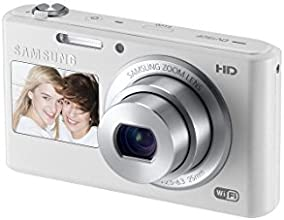 """Samsung DV150F 16.2MP Smart WiFi  Digital Camera with 5x Optical Zoom and 2.7"""" main and 1.48"""" front Dual LCD Screens (White)"""