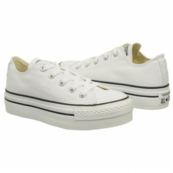converse ct platform ox plateau sneaker women white canvas shoe size eur 42. Black Bedroom Furniture Sets. Home Design Ideas