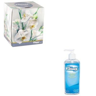KITKIM21269KIM93060EA - Value Kit - KLEENEX BOUTIQUE 21269 Facial Tissues in Floral box 8.6quot; x 8.4quot; (KIM21269) and KIMBERLY CLARK KLEENEX Instant Hand Sanitizer (KIM93060EA)
