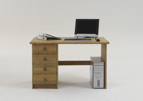 Schreibtisch Kinderschreibtisch Bürotisch Kiefer massiv, Farbe:Gebeizt/Geölt günstig online kaufen