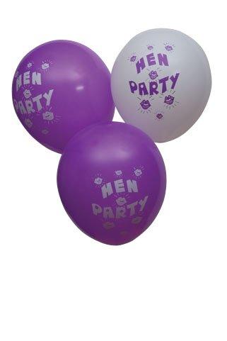 Hen Night Purple/White Balloons - HNBL