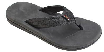 Rainbow Mens North Cove Sandal Black Size 8