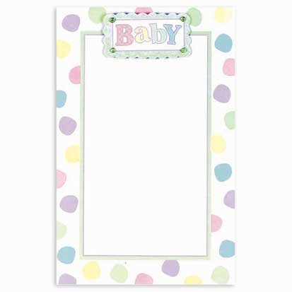 Pastel Baby Dot Imprintable Invitations 12ct