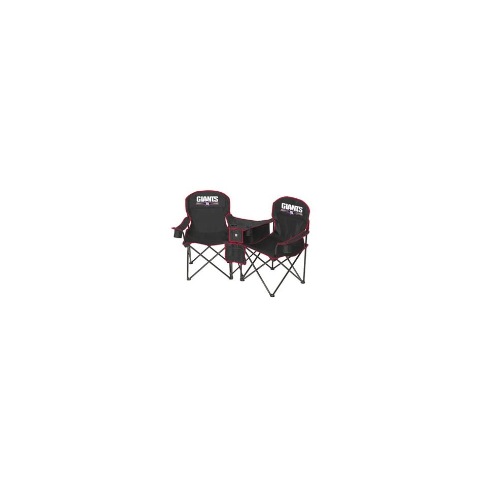 Remarkable New York Giants Nfl Deluxe Folding Conversation Arm Chair By Gmtry Best Dining Table And Chair Ideas Images Gmtryco