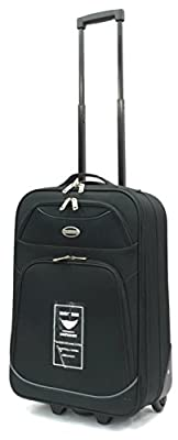 Ryanair and EasyJet Lightweight Cabin Approved Hard Wearing and Light Weight Trolley Wheeled Luggage Bag (17 inch fits within 50 x 40 x 20 & 21 inch 55 x 40 x 20)