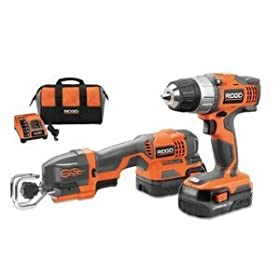 Factory-Reconditioned Ridgid ZRR9682 18V Lithium-Ion Drill/Driver and One Handed Reciprocating Saw Combo Kit