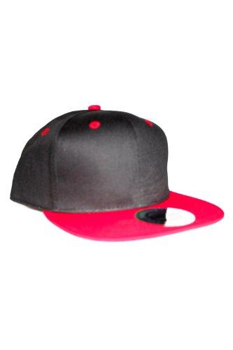 Plain 2-ToneRetro Flat Peak Fitted Snapback Baseball Cap