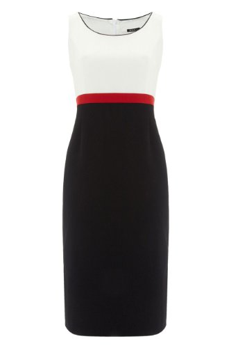 Roman Women's Colourblock Occasion Panel Shift Dress Black
