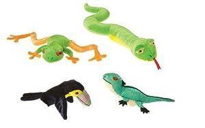Rainforest Knucklehead Finger Puppets Set of 4