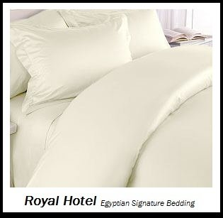 Royal Hotel's Solid Ivory 1200 Thread Count 4pc Queen Bed Sheet Set 100% Egyptian Cotton, Sateen Solid, Deep Pocket, 1200 TC