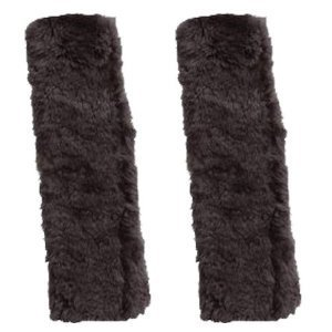 Sheepskin Seat Belt Shoulder Pads, Grey Color (Pair) by Auto Expressions