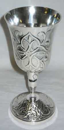 """Ancient Celtic Silver Chalice 7"""""""