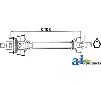 A & I Products Complete 80° CV Driveline; 540 RPM Replacement for Ford - New ...