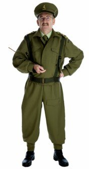 British Home Guard Officer - Adult Fancy Dress Costume - L