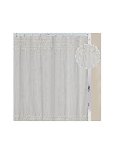 Creative Bath Can-Can Shower Curtain, White