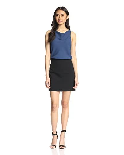 4.collective Women's Colorblocked Cowlneck Dress