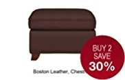Abbey Footstool - Leather