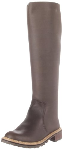 ALL BLACK Women's Lug Knee-High Boot, Coffee, 40 EU/9.5 M US