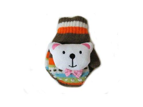 動物手袋//アニマル手袋//赤ちゃん、子ども用//可愛い人気の冬のアイテム//winter glove (横9cm 縦11cm, Brown)