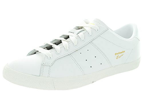 Onitsuka Tiger Lawnship Classic Tennis Shoe,White/White,11 M US Men's/12.5 W US Women's