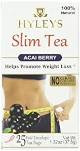 Details about Hyleys 100% Natural Slim Green Tea Raspberry 25 Teabags