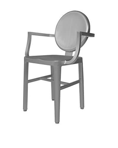 LeisureMod Modern Aluminum Chair, Silver