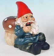 Pipe Smoking Garden Gnome