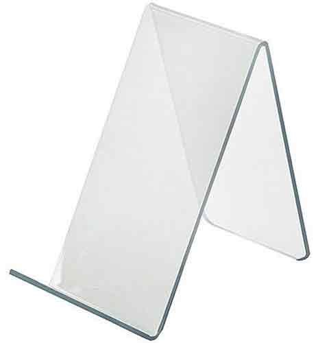 Azar Displays 515415 2.5-Inch Width by 5-Inch Depth by 4.125-Inch Height Acrylic Easel Display, 10- Pack (Display Easel Acrylic compare prices)