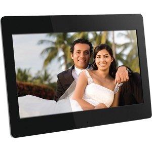 "Aluratek Digital Frame - 14"" LCD Digital Frame - Black - 1366 x 768 - Cable - Slideshow, Clock, Calendar - Built-in 512 MB - USB - Desktop - ADMPF114F from ALURATEK INC"