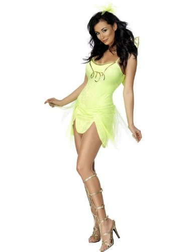 Smiffy's Women's Green Tinkerbell Costume With Wings