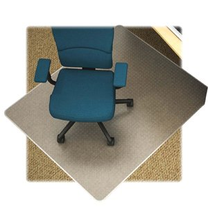 Lorell Low Pile Rectangular Chairmat, 46 by 60-Inch, Clear