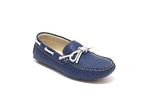 Sausalita scarpa ragazzo, modello mocassino, in pelle ,colore avion