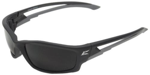 Edge Eyewear TSK216 Kazbek Polarized Safety Glasses, Black with Smoke Lens (Edge Safety Glasses Polarized compare prices)