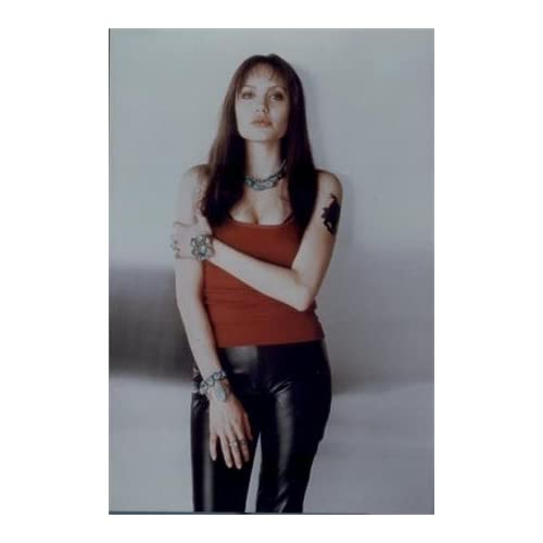 Amazon.com : ANGELINA JOLIE LEATHER PANTS AND TATTOO 4X6 PHOTO BM51649