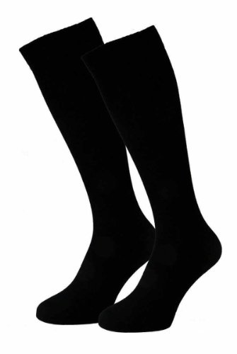 2PAIR Knee length socks, compression & travel socks/stockings. Very soft socks, compression for business & travel activities. German market quality.
