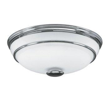 Hunter Exhaust Fan with light 81021 Victorian Bathroom Fans Chrome CFM = 90, Sones = 2.5