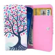 Universal Heart Tree Pattern Leather Case with Card Slots Wallet for Samsung Galaxy S / i9000 / Galaxy SIII mini / i8190, SONY E1, HTC G13 / G20, Size: 12.3 x 6.5 x 2cm
