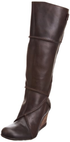 Fly London Women's Jess Dark Brown Wedges Boots P142002003 5 UK