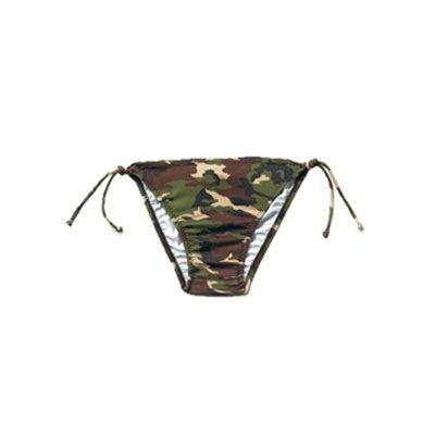 Woodland Camo String Bikini Bottom - Small