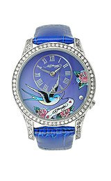 Ed Hardy Elizabeth Blue Degrade Dial Women's watch #EL-BL