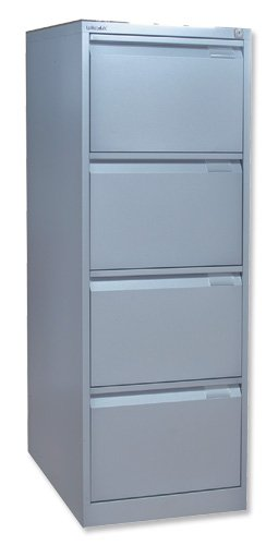 Bisley BS4E Filing Cabinet Flush-front 4-Drawer W470xD622xH1321mm Goose Grey Ref BS4E-73