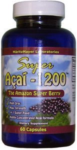 Max Strength Acai Berry 60 Capsules - 30 Days Supply - Health & Energy Supplement