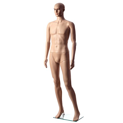 cownic-male-full-body-pe-plastic-realistic-mannequin-adjustable-standing-dummy-flesh-tone-stand-styl