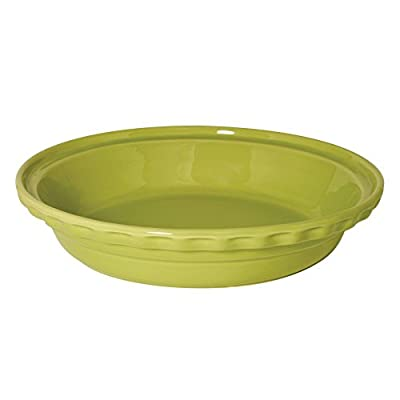 Chantal 9.5 in. Lime Green Deep Dish Pie Dish - Set of 2